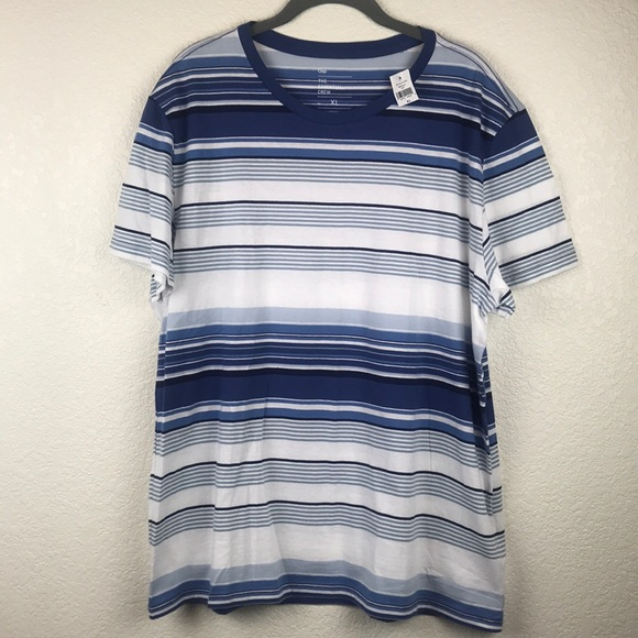NWT Gap Essential Crew Neck Short Sleeve Striped Tee T Shirt   Red